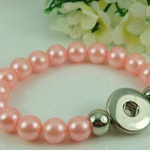 Light Pink Snap Button Interchangeable Bracelet